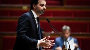 Le rapporteur du budget Laurent Saint-Martin (LREM) à l'Assemblée nationale, le 10 juin 2020 à Paris