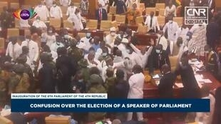 Unrest breaks out at opening session of Ghana's new parliament