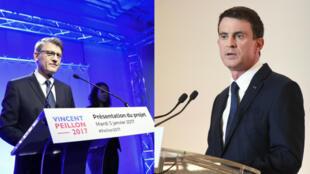 À une heure d'intervalle, Manuel Valls et Vincent Peillon otn présenté leur programme.