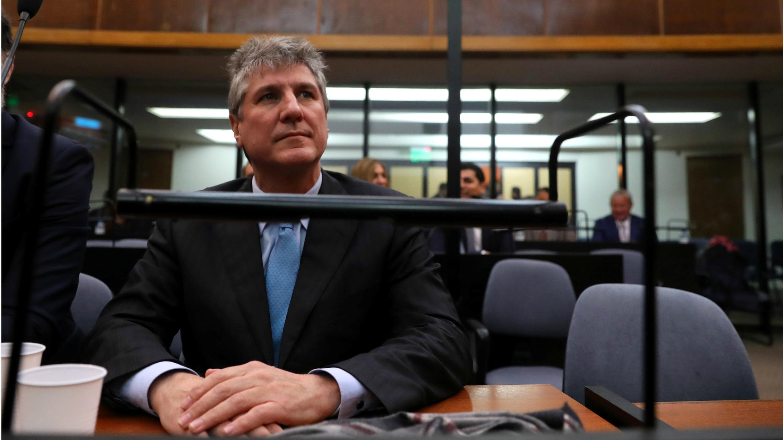 Amado Boudou, exvicepresidente de Argentina durante su juicio, el 7 de agosto de 2018, en Buenos Aires, Argentina.