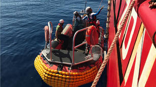 Le navire Ocean Viking a secouru 85migrants vendredi9août en mer Méditerranée.