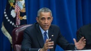 باراك أوباما في واشنطن، في 6 تشرين الأول/أكتوبر 2015
