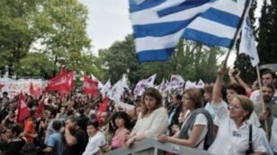 مظاهرات خلال إضراب عام سابق في اليونان