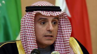 Le ministre saoudien des Affaires étrangères, Adel al Djoubeir, lors de la 136e Conférence de coopération du Golfe le 10 décembre 2015.