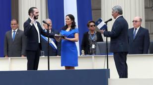 Nayib Bukele juró su cargo como presidente de El Salvador para el período 2019-2024. 1 de junio de 2019.