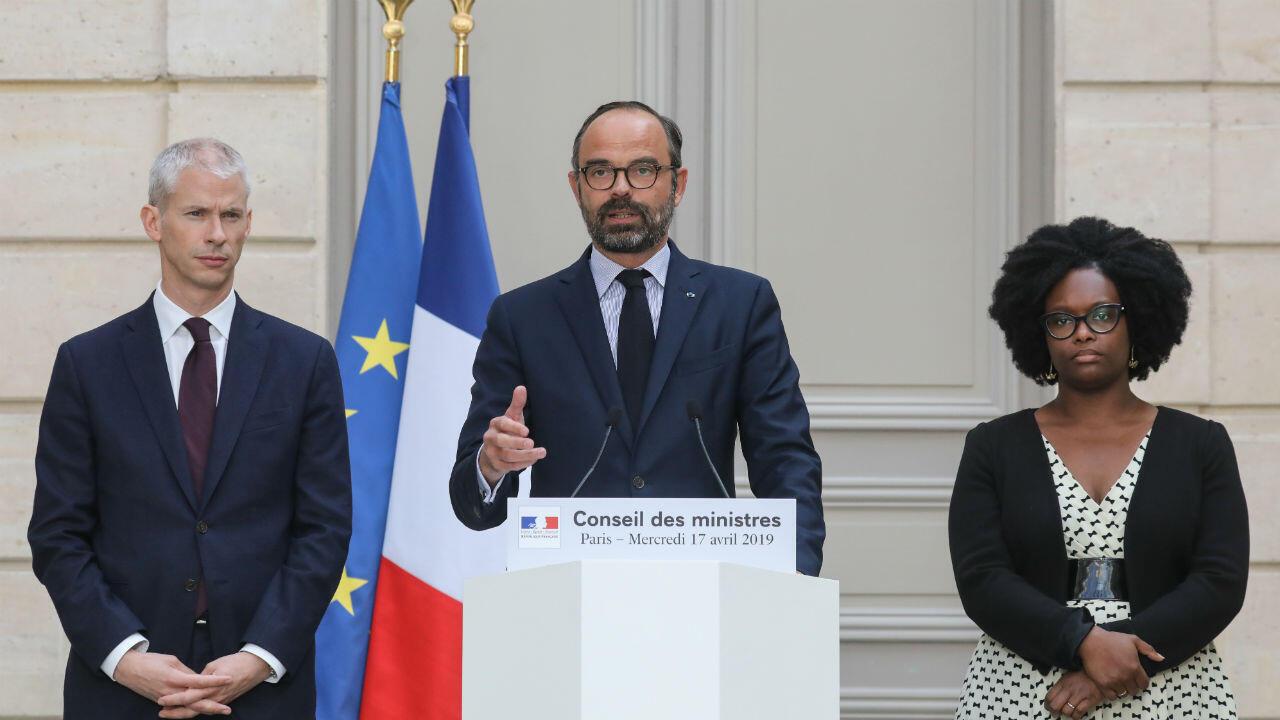 رئيس الوزراء الفرنسي إدوار فيليب في الإليزيه، في 17 أبريل/نيسان 2019.