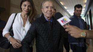 El expresidente argentino Carlos Menem, en una foto del 17 de noviembre de 2018