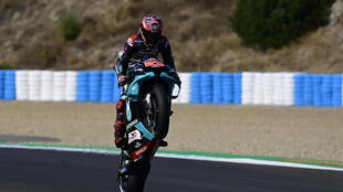 Quartararo claimed the seventh pole position of his young career