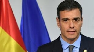 "Spanish Prime Minister Pedro Sanchez (pictured November 2018) said the cabinet ""will approve the budget proposal"" in January 2019 and ""we will then present it to parliament"" later the same month"