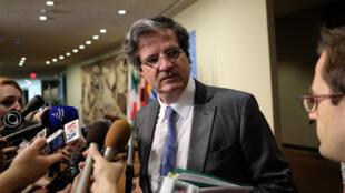 """L'ambassadeur de France à l'ONU François Delattre a estimé mardi 20 juin que le nouveau texte était """"plus fort en matière de soutien"""" car il allait recevoir l'appui des États-Unis."""