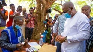 GHANA ELECCIONES Dramani Mahama