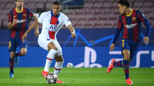 22-year-old Kylian Mbappe is the first player to score a hat-trick against Barcelona in the knockout stages of the Champions League