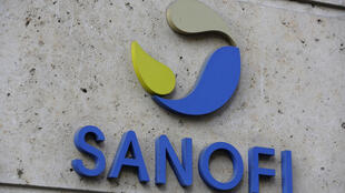 This photo taken Monday Nov.30, 2020, shows the logo of French drugmaker Sanofi at the company's headquarters, in Paris.