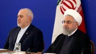 الرئيس حسن روحاني ووزير الخارجية محمد جواد ظريف