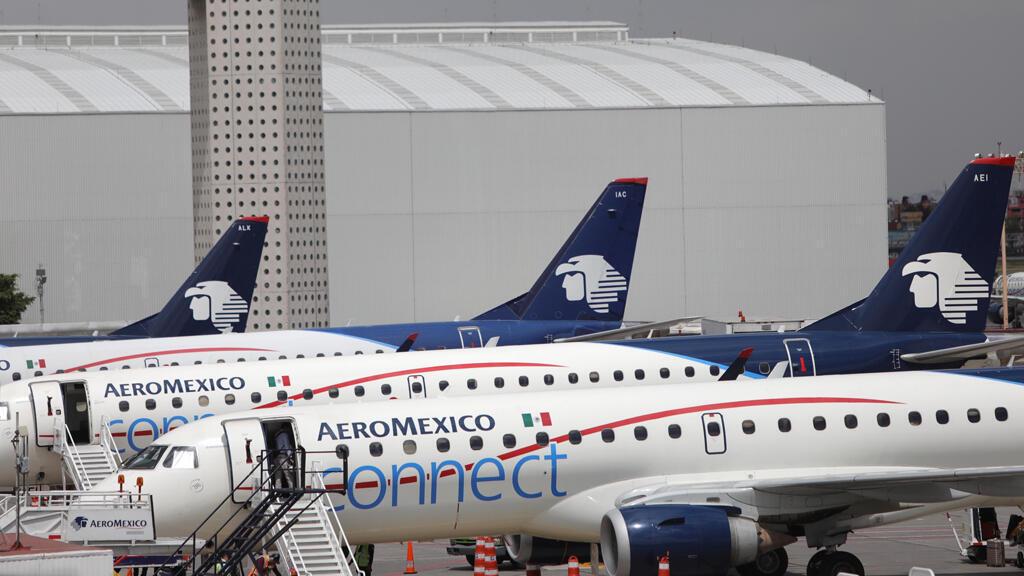 Fotografía de aviones de la empresa Aeroméxico el miércoles 18 de septiembre de 2019, en Ciudad de México (México).