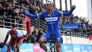 Le Belge Philippe Gilbert, vainqueur à Roubaix.