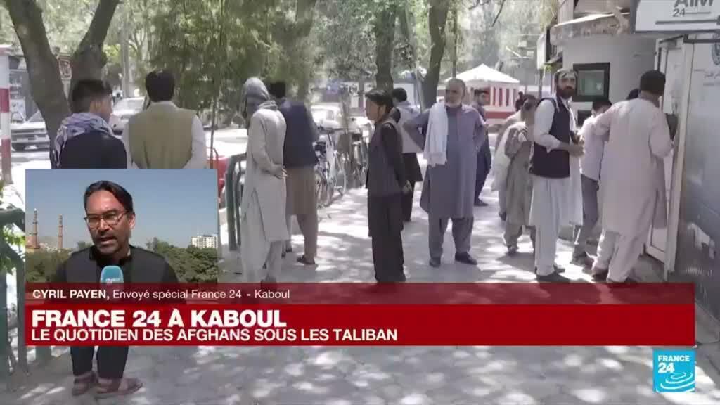 """2021-09-02 07:01 France 24 à Kaboul : """"Il y a de graves pénuries de liquide"""" en Afghanistan"""