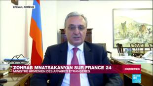 Le ministre arménien des Affaires étrangères, Zohrab Mnatsakanyan