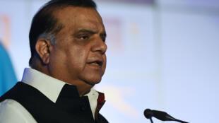 El dirigente del comité olímpico de India, Narinder Batra, en un evento en Nueva Delhi en febrero de 2018