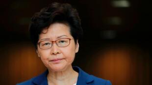 La jefa del Ejecutivo de Hong Kong, Carrie Lam, asiste a una conferencia de prensa en Hong Kong, China, el 4 de octubre de 2019.