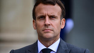 French President Emmanuel Macron at the Elysee Palace in Paris, on May 21, 2021.