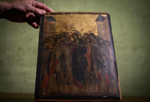 """""""Le Christ moqué"""" est visible à la galerie Turquin, à Paris."""