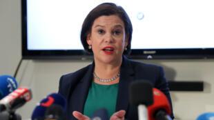 Mary Lou McDonald, la nouvelle présidente du Sinn Fein, s'est adressé pour la première fois à la presse étrangère jeudi 22 février.