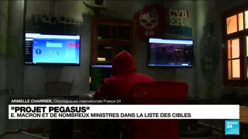 """2021-07-21 10:33 """"Projet Pegasus"""" : pourquoi l'État français a t-il été ciblé par le Maroc via le logiciel espion ?"""
