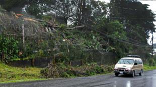 Les intempéries provoquées par la tempête Nate ont causé la mort d'au moins huit personnes au Costa Rica, le 5 cotobre 2017.