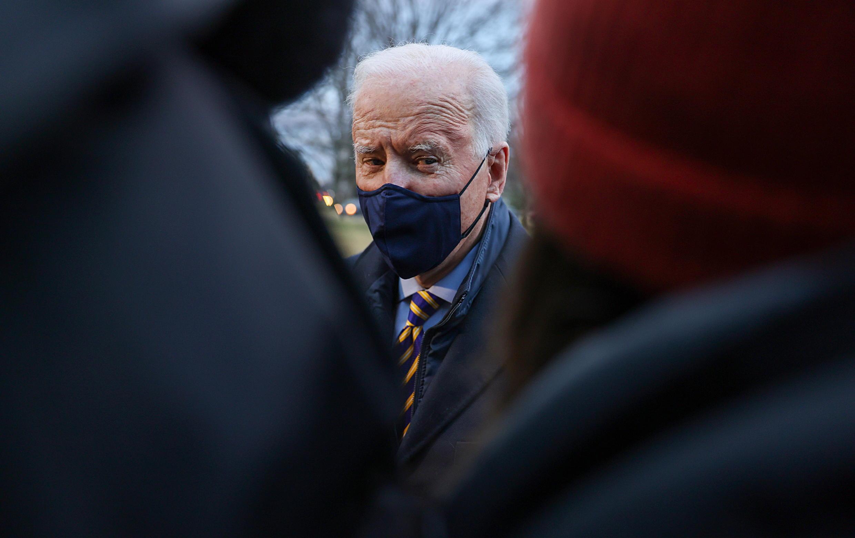 Joe Biden at the White House on February 16 2021.