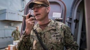 قائد عمليات البحرية الأمريكية في الشرق الأوسط نائب الأدميرال سكوت ستيرني 24 تشرين الأول/أكتوبر 2018