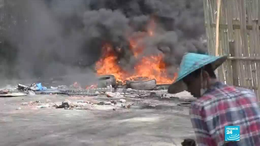 "2021-03-29 06:08 Coup d'État en Birmanie : l'UE condamne une violence de la junte ""inacceptable"""