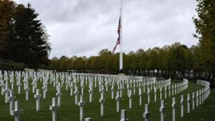 المقبرة الأميركية في إين-مارن في فرنسا في تشرين الثاني/نوفمبر 2018