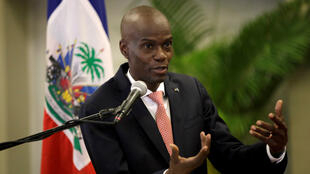 Haiti's President Jovenel Moise speaks during a news conference to provide information about the measures concerning coronavirus, at the National Palace in Port-au-Prince, Haiti March 2, 2020.