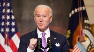 U.S. President Joe Biden speaks about the fight to contain the coronavirus disease (COVID-19) pandemic, at the White House in Washington, U.S. January 26, 2021.