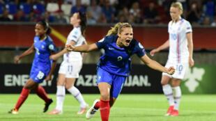 Eugénie Le Sommer a offert la victoire à la France.