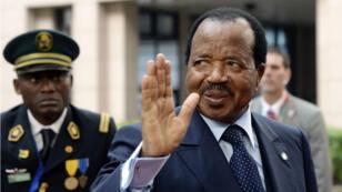 Le président camerounais Paul Biya, le 3 avril 2014, à Bruxelles.