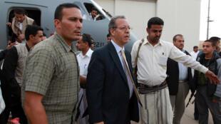 Jamal Benomar revient d'une visite à Sanaa en septembre 2014 où il s'est entretenu avec des rebelles chiites.