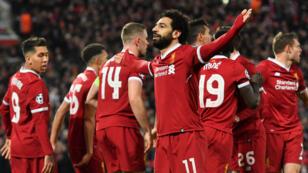 Mohamed Salah, auteur du premier but de Liverpool face à Manchester City.