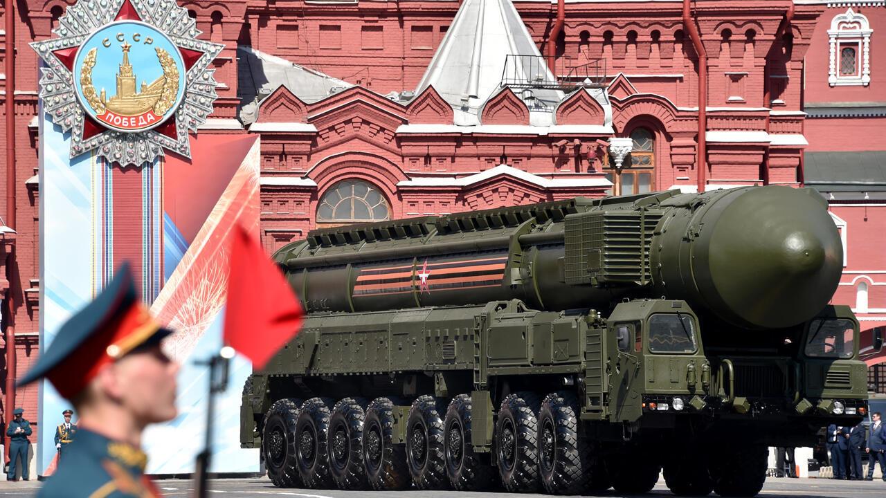 Archivo: Un misil intercontinental ruso Yars RS-24 rueda en la Plaza Roja durante el desfile militar del Día de la Victoria en Moscú el 9 de mayo de 2016. Rusia marca el 71 aniversario de la victoria de la Unión Soviética sobre la Alemania nazi en la Segunda Guerra Mundial.