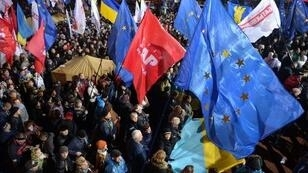 Manifestations pro-européennes à Kiev, le 25 nov.