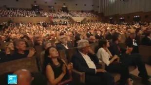 جمهور حفل اختتام مهرجان البندقية السينمائي في نسخته الـ76 ، 7 أيلول/سبتمبر 2019.