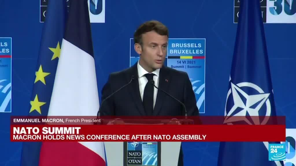 2021-06-14 18:16 REPLAY: Emmanuel Macron holds news conference after NATO assembly