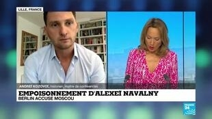 """2020-09-03 18:17 Empoisonnement d'A. Navalny: """"Il y a une sorte de culture du poison qui existe depuis très longtemps"""""""
