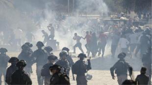 La Policía disparó balas de goma y granadas para dispersar a los manifestantes. 11 de agosto de 2019.