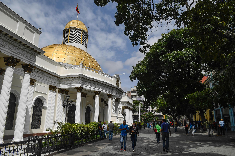 Archivo-Vista general de la fachada de la Asamblea Nacional, en  Caracas, Venezuela, el 14 de julio de 2020