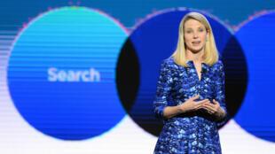 Marissa Mayer au sommet de sa gloire de PDG de Yahoo au CES de Las Vegas en 2014.