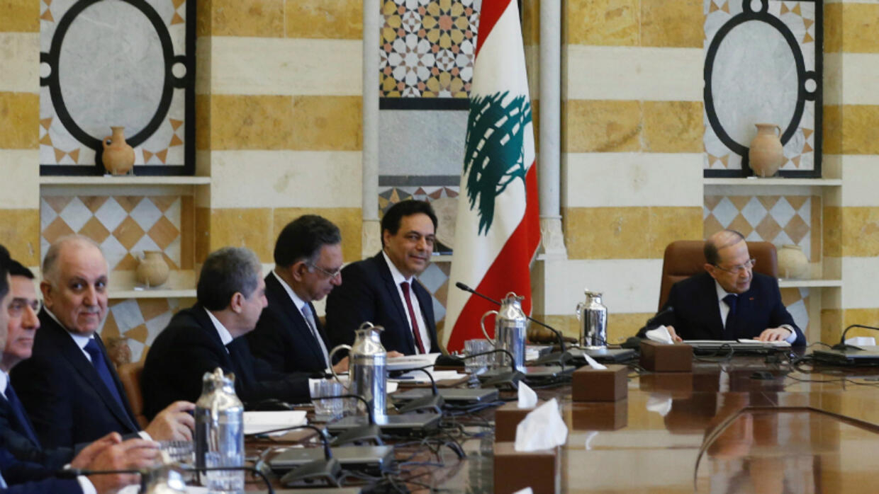 Lebanon's new cabinet holds first meeting amid protests and economic 'catastrophe'