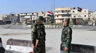 Un poste de contrôle militaire syrien à Alep (archives).