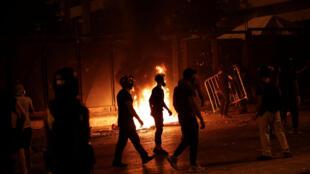 اشتباكات بين محتجين والقوى الأمنية في بيروت. 09/08/2020